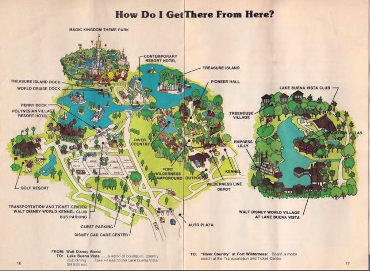 Vintage Disneyworld Map 1977. Magic Kingdom. 1970u0027s