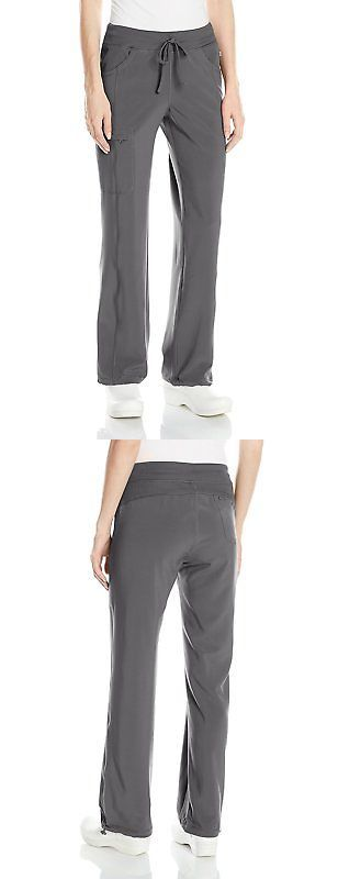 Bottoms 105422: Cherokee Womens Infinity Low-Rise Straight Leg Drawstring Pant, Pewter, Small -> BUY IT NOW ONLY: $43.56 on eBay!