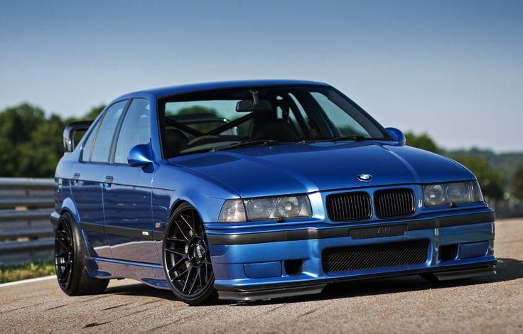 Blue BMW E36 M3