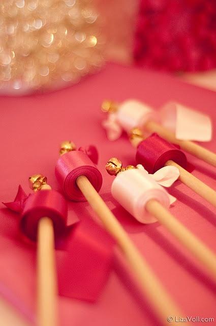 Little girl party favor idea - ribbon wands