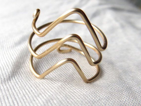 Triple Chevron Wire Ring