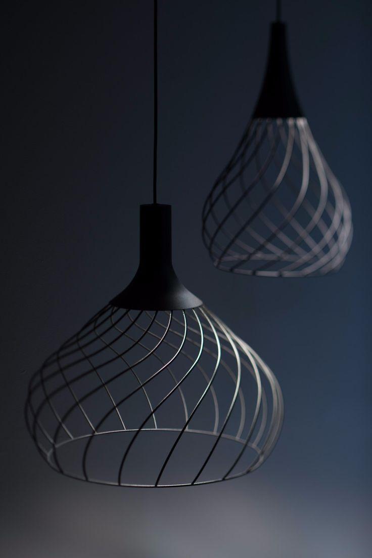 LED direct light iron pendant lamp MONGOLFIER - @linealightgroup