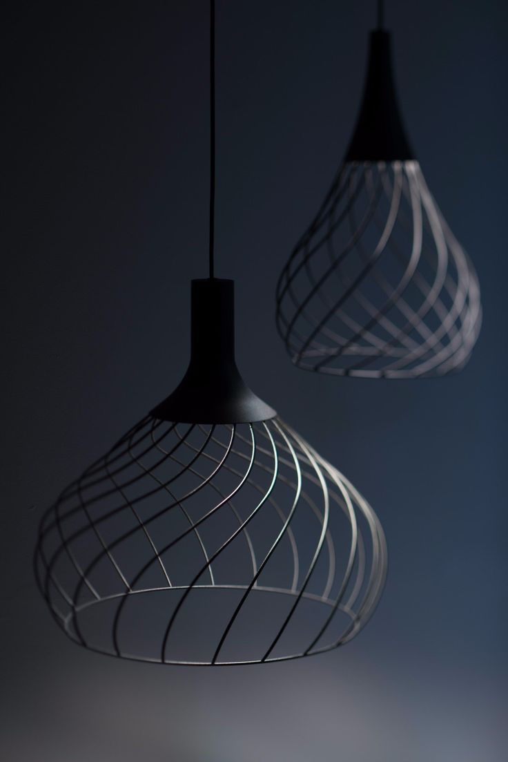 LED direct light iron pendant lamp MONGOLFIER - @linealightgroup