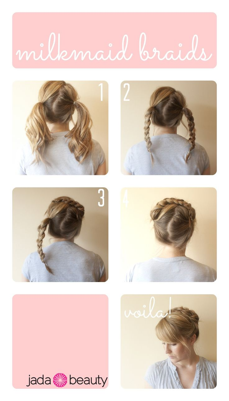 Best Oktoberfest Hairstyle Images On Pinterest Hairdos Hair - Diy hairstyle knotted milkmaid braid