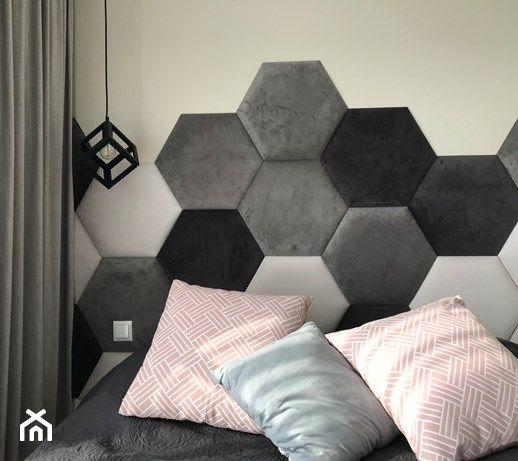 Panele tapicerowane DAPPI z kolekcji hexagon - miękka ściana i przytulne wnętrze! #homedecor #dappi #interiordesign
