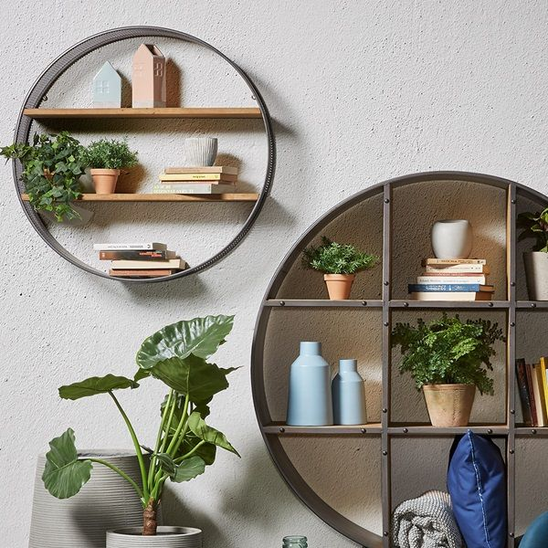 Helia Round Wall Shelf Round Wall Shelves Metal Wall Shelves