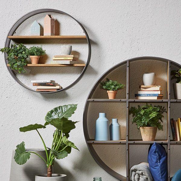 Shelves On Wall Decorating Ideas Best, Round Wall Shelf Decor Ideas