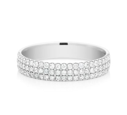 One of our stunning eternity rings. View our entire Collection of eternity rings on our website. #mazzucchellis #diamond#diamondring #love #eternity #jewellery #engaged #forever#eternityring