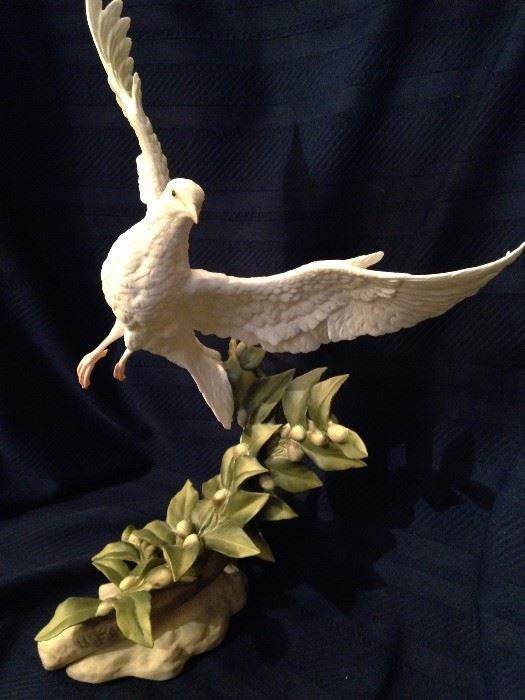 """This porcelain """"Dove of the Eternal City"""" was created specifically for Dr. and Mrs. Thomas by the Boehm company.  New Divide & Conquer sale starting this Thursday September 7-9, 2017 check out the details here:  http://divideandconquerofeasttexas.com/nextsales.php  #estatesales #consignments #consignment #tyler #tylertx #tylertexas #organizing #organizers #professionalorganizer #professionalorganizers #movingsale #movingsales #moving #sale #divideandconquer #divideandconquerofeasttexas…"""