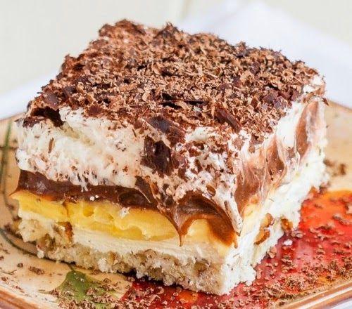 TutiReceptek és hasznos cikkek oldala: Habkönnyű és ínycsiklandó csokis-vaníliás réteges finomság