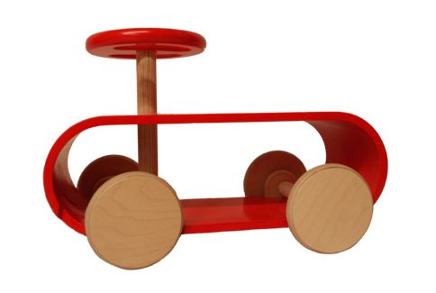 Papu childrens toy kick car. Hand made bent wood toy for children. (www.papuna.fi)