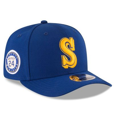 New Era Ken Griffey Jr. Seattle Mariners Navy Signature Snapback 9FIFTY  Adjustable Hat