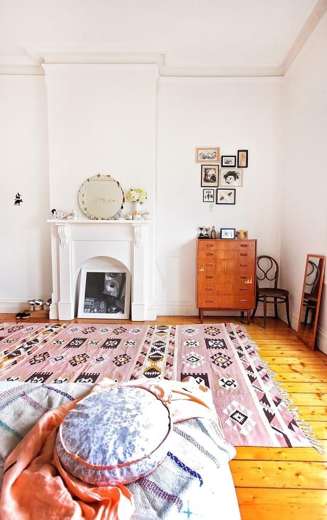 Super schöner Kelim Teppich im Wohnzimmer