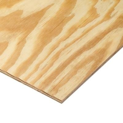11/32 in. or 3/8 in. x 4 ft. x 8 ft. BC Sanded Pine Plywood-166022 - The Home Depot