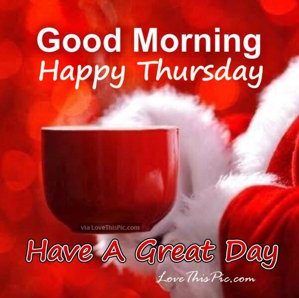 Christmas Good Morning Happy Thursday Quote