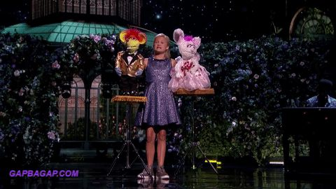 Funny GIF Of Darci Lynne Having Fun With Puppets