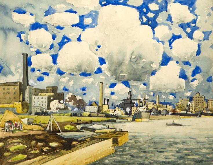 Marc-Aurèle Fortin - Port de Montréal, 1926,...