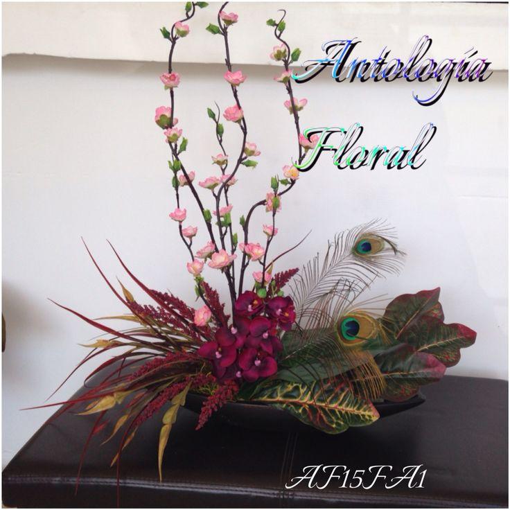 Arreglo de flores artificiales orqu dea rama de durazno - Arreglos de flores artificiales ...