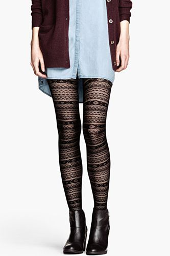 H&M Patterned Tights, $9.95, available at H&M.