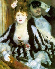P.A. Renoir; Il palco; 1874; olio su tela; Courtauld Gallery (Courtauld Institute), Londra.