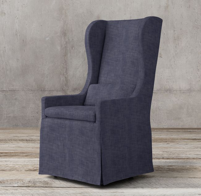 Belgian Wingback Slipcovered Armchair Armchair Wingback Dining Chair Slipcovers