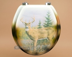 Painted Southwest Toilet Seat -Deer  (t12)