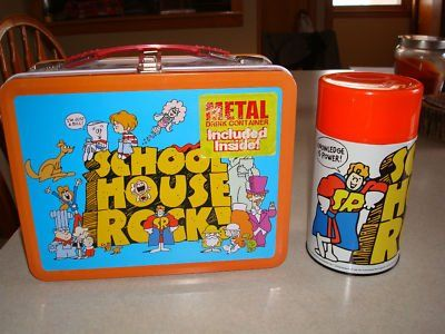 """School House Rock"" Lunch BoxRocks Lunchbox, Rocks Lunches, School House Rocks, Lunches Time, Lunches Boxes, Vintage Lunchbox, Pale, Schools House Rocks, Schoolhouse Rocks"