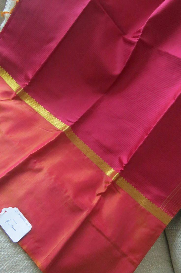 Pink Kanchi Purim silk Saree- Party sari-wedding sari by ZainabBoutique on Etsy