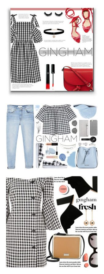 """""""Winners for Check Republic: Gingham Dress"""" by polyvore ❤ liked on Polyvore featuring Topshop, KC Jagger, Giorgio Armani, Betsey Johnson, gingham, MANGO, Ray-Ban, Sole Society, Madewell and ICE London"""