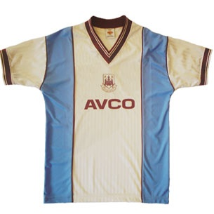 West Ham United 1987/1989 Away Shirt £34.99.