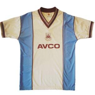 West Ham United 1987/1989 Away Shirt £34.99.