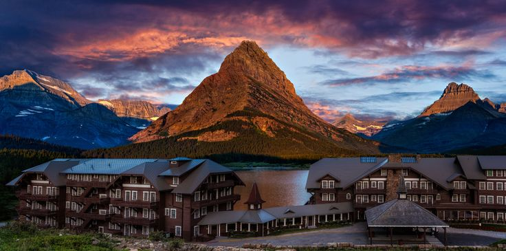 Many Glacier Hotel, Glacier National Park by Brian Behling