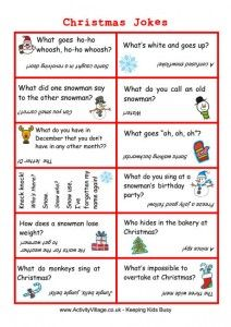 christmas jokes lunch box notes - Childrens Christmas Jokes
