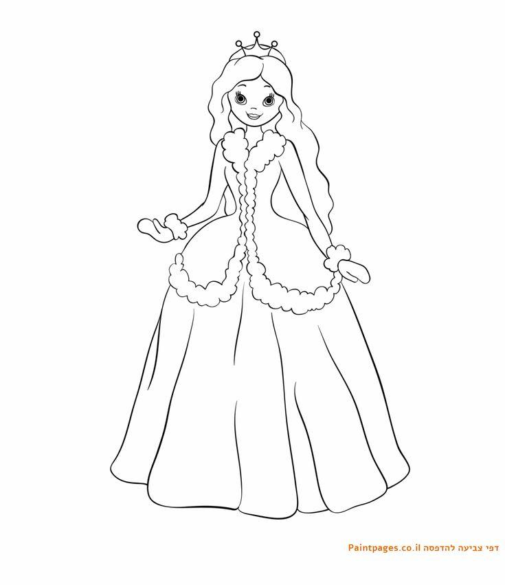 דף צביעה נסיכת החורף Princess Coloring Pages Princess
