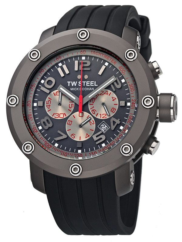 DESIGNER BRANDS TW STEEL GRANDEUR TECH CHRONO MICK DOOHAN TW612 - 45 MM titanium steel - Swiss made watches - SwissTime