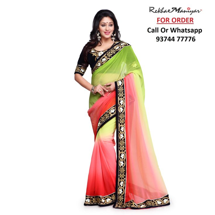 #Ready To Ship !!! Heavy Designer Blouse Saree #Free Shipping, #COD Available Call Or Whatsapp Us on : 93744 77776