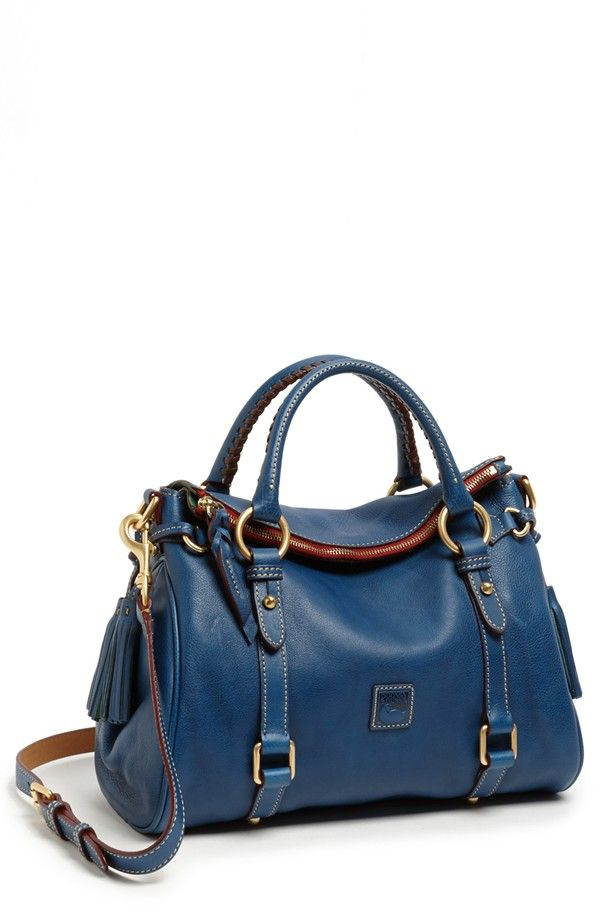 Women's Dooney & Bourke 'Florentine - Small' Leather Crossbody Satchel Denim