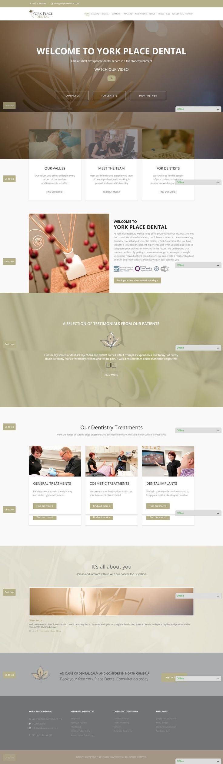 With SEO and copy from Consulting Cumbria, this website makes stunning use of client supplied images to make the website feel like an extension of the dental practice.
