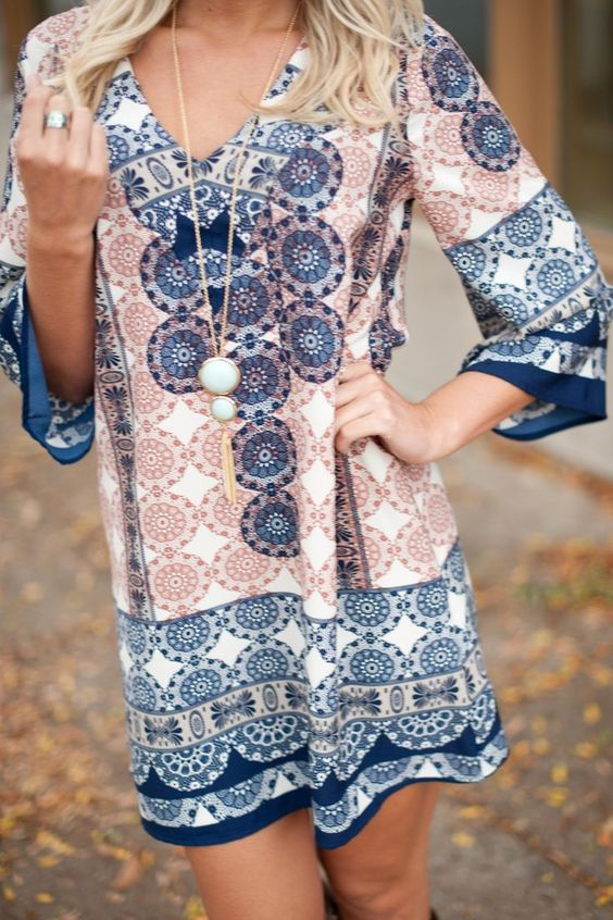 Tunic dress/navy/coral/stitchfix                                                                                                                                                     More