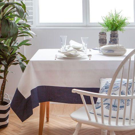LINNEN TAFELLAKEN EN SERVETTEN MET CONTRAST - Tafelkleden en servetten - Tafelaccessoires | Zara Home Netherlands
