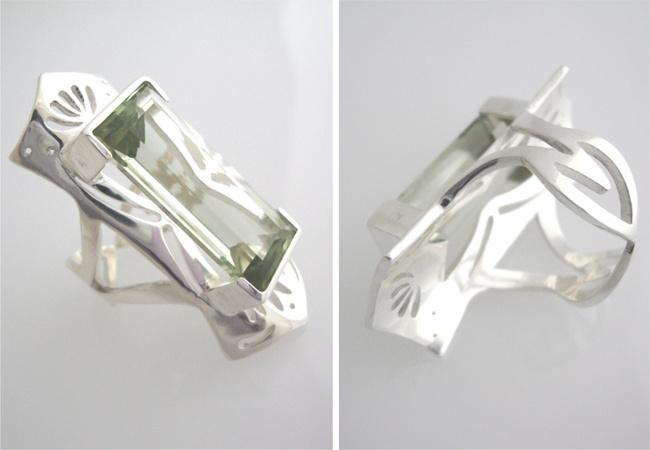 Prasiolite Princess Ring  Hand made silver ring - Tika Jewellery  Laura Metke