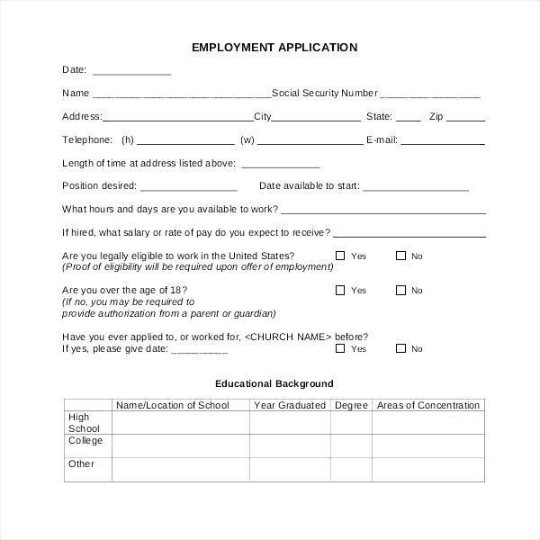 Church Membership Form Template 15 Brilliant Ways To Advertise Church Membership Form Templa Templates A Formal Letter Employment Application