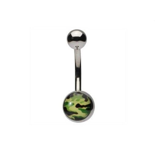 Sexy hunting camo belly button rings unique belly piercings
