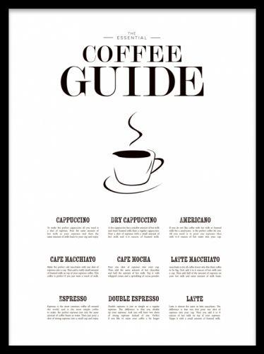 Coffee Guide, poster ryhmässä Julisteet ja printit @ Desenio AB (7841)