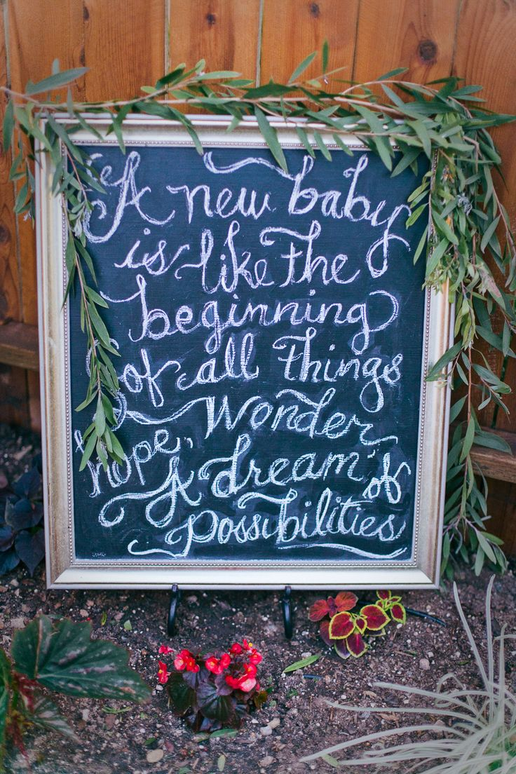 """Chalkboard """"New Baby"""" Sign"""