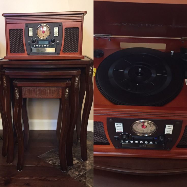 Here's a decor that I took of the tables and the record player. The record player is actually brand new and looks old fashion which looks really nice and antique. #architecture #design #tables #recordplayer #antique
