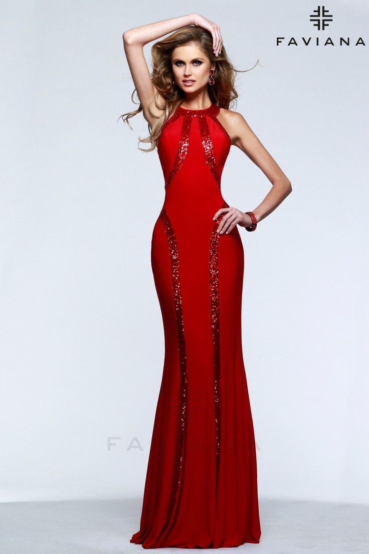 Perfect Special Occasion Sequin Dress Faviana