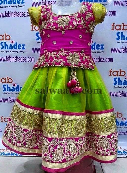Green Pink Floral Design Lehenga | Indian Dresses