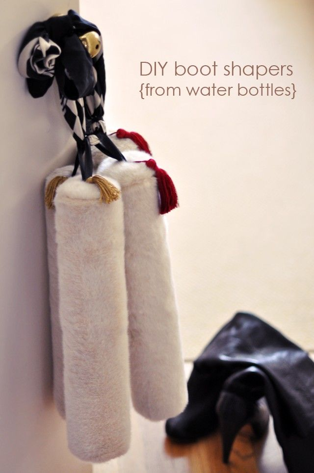 DIY Boot Shapers from Water Bottles
