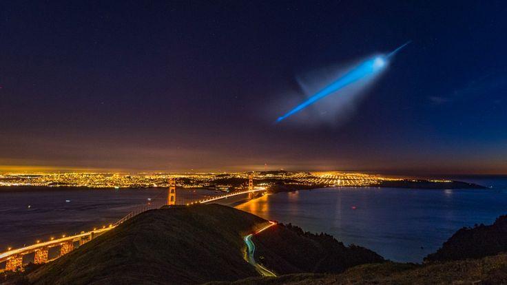 #GoAltaCA | Trident missile streaking over  #SanFrancisco